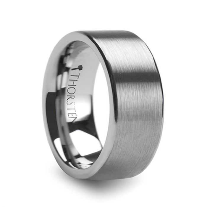 MERCURY Flat Brushed Finish Tungsten Wedding Ring – 4mm – 12mm